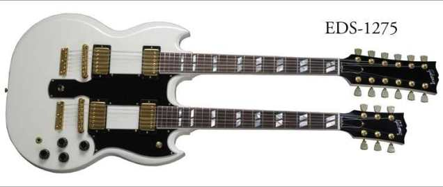 Gibson EDS-1275 (white with gold pickups)