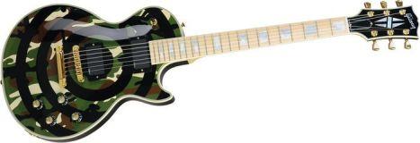 GUITARRA Gibson Camo Bullseye Les Paul custom